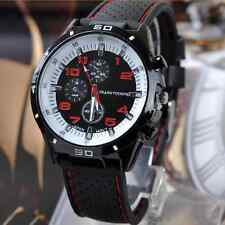 Silicone New Men's Sports Fashion Steel Watch Analog Wristwatch Boy's*