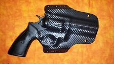 HOLSTER BLACK CARBON KYDEX Ruger GP100 OWB Outside Waistband