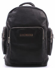 Borsa Uomo Zaino BIKKEMBERGS Backpack Black Laptop Pad Zip Nero Ecopelle 100% PU