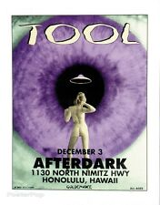 MG11-2 TOOL Silkscreen Concert Poster Hawaii Matt Getz 1995 Signed Mint