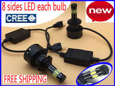 NEW 8 sides CREE LED 160W 16000LM Headlight Kit H7 H11 H4 White 6000K Bulbs Lamp