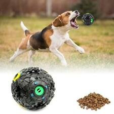 Pet Dog Tough Treat Training Chew Sound Activity Toy Squeaky Giggle Ball Black