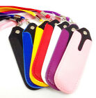 PU Leather Pouch With Lanyard Necklace Sling For Shisha Pen