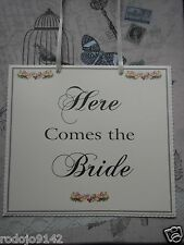 SHABBY CHIC  Here Comes The Bride Sign for Pageboy ~ Flowergirl ~ Bridesmaid