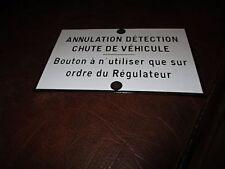 Plaque émaillée métal SNCF-signaux Girod-