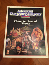 AD&D - Player Character Record Sheets - REF2 - 2nd Edition - TSR