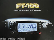 Yaesu ft-100 (Genuino folleto sólo)............ radio_trader_ireland.