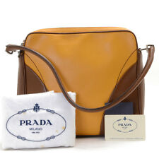 Authentic PRADA Leather One-Shoulder VITELLO SOFT Shoulder Bag B11167