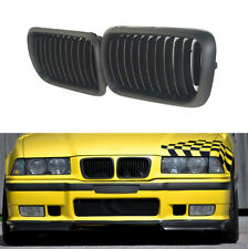 Pair Fornt Black Kidney Grilles Grill For BMW E36 3 series M3 97 98 99 318i 323i