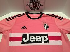 ADIDAS JUVENTUS SOCCER JERSEY JEEP PINK DRAKE ITALIA S12846 sz S SMALL