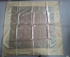 NEW VTG SILK CHINESE EMBROIDERY SHAWL/WALL HANGING/PIANO DRAGONS GOLD THREATS