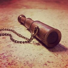 HOT SALE - Vintage Style Collapsible Pirate WORKING Telescope SPYGLASS Necklace