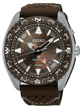 New Seiko SUN061 Prospex Kinetic GMT Stainless Nylon/Leather Strap Men's Watch