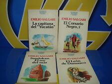 Libro cuatro libros EMILIO SALGARI clasicos juveniles Planeta