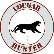 Cougar Hunter Car Sticker - Subtle - Target - Auto Decal