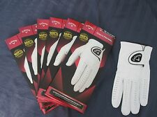 6 CALLAWAY DAWN PATROL LEATHER GOLF GLOVES SIZE XXL 6 NEW MENS
