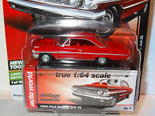 AUTO WORLD RED 1964 FORD GALAXIE 500 XL REL 5C PREMIUM VINTAGE MUSCLE LIMITED