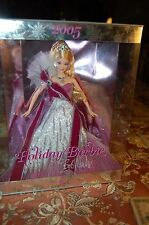 Holiday Barbie Doll 2005 Collector Edition - Bob Mackie First Edition Wine NRFB