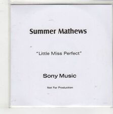 (GQ509) Summer Mathews, Little Miss Perfect - DJ CD
