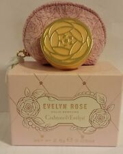 NIB Crabtree & Evelyn Evelyn Rose Solid Perfume with Case .09 oz / 2.5g