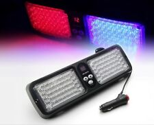 Red & Blue LED Traffic Advisor Flash Emergency Warning Flash Strobe Light Visor