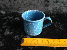alter kleiner Emaille Topf m.1 Henkel,blau,Zubehör,Puppenküche,Puppenstube