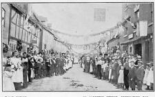 An Alcester Street Coronation Day Nr Bidford on Avon unused old pc C H's Series