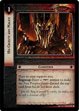 LoTR TCG Realms of the Elf Lords RotEL His Cruelty And Malice 3R91 x2