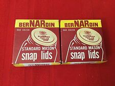 Lot If 2 Boxes Vintage Bernardin Standard Mason Snap Lids 24 Pieces NOS