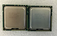 Match pair Intel Xeon L5640 2.26GHz  12MB 5.86 GTs LGA1366 Hex Core CPU SLBV8