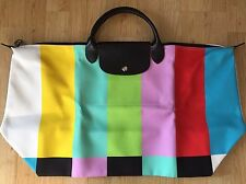 "SS14 LONGCHAMP x jeremy SCOTT ""barre de couleur"" sac LE PLIAGE ltd edition"