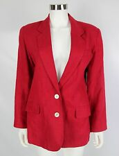 Vintage Brooks Brothers Womens Size 6 Red 100% Pure Irish Linen Blazer Jacket
