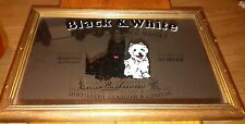 "Vintage Original BLACK & WHITE Buchanan's SCOTCH WHISKY PUB MIRROR. 22"" X 18"""