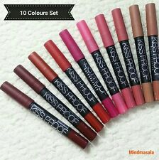 10 Pcs Menow kissproof Powdery Matte Lipstick Crayon(2,4,6,8,9,11,12,14,16,18)