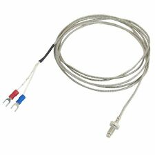 2X  K Type 800C 6mm Thread Screw Thermocouple Temperature Measurement Sensor 2M