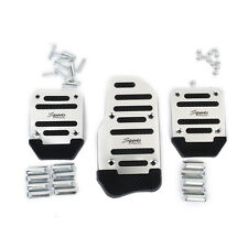 Non-Slip Racing Sport Manual Car Accelerator Brake Pedal Pad Covers Silver