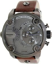 Diesel Men's SBA DZ7258 Brown Leather Quartz Watch