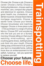 Trainspotting Poster Print, 24x36