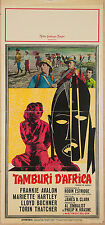 LOCANDINA, TAMBURI D'AFRICA Drums of Africa AVALON, HARTLEY, POSTER AFFICHE
