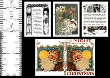 1:6 SCALE MINIATURE BOOK THE NIGHT BEFORE CHRISTMAS 1900 PLAYSCALE
