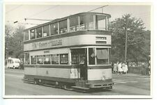 H165 RPPC 1950s? TROLLEY TRAM SHEFFIELD #123 ' WEEDON ST ' ' TINSLEY '