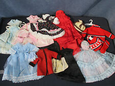 "Doll Clothes for Barbie 11"" Doll Hand Made Lot of 10 Outfits Coat Dresses Gowns"
