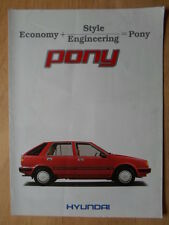 HYUNDAI PONY 1985 UK Mkt sales brochure