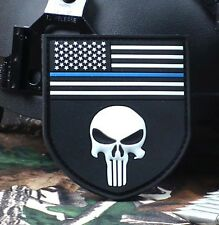 PUNISHER SKULL TACTICAL USA FLAG MILITARY  VELCRO PATCH NEW    SJK     373