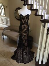 $440 NWT BLACK LACE JVN BY JOVANI PROM/PAGEANT/FORMAL DRESS/GOWN #22457 SIZE 6