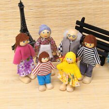 6Pcs Children Baby Wooden Puppet Doll Finger Toys Family Playing Educational Toy