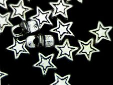 30 x 5mm Tibetan Silver Star Beads Spacer Jewellery G64