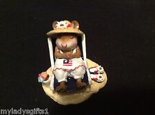 WEE FOREST FOLK  SPECIAL COLOR R/W/B SUN SNOOZER WITH FLAG