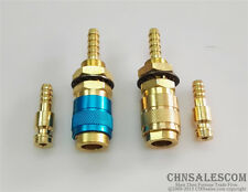 2 SET Gas & water Quick Connector for MIG TIG Welder  Torch Blue + Copper Circle