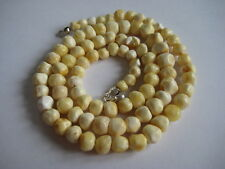 Bernstein cadena Baltic amber Necklace blanco-White